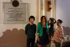 Artist Loredana Longo with Simon Sultana Harkins and Irene Biolchini
