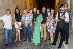 The Mdina Biennale team and other guests with Zgei (third from left). Photo credit: Joe Smith